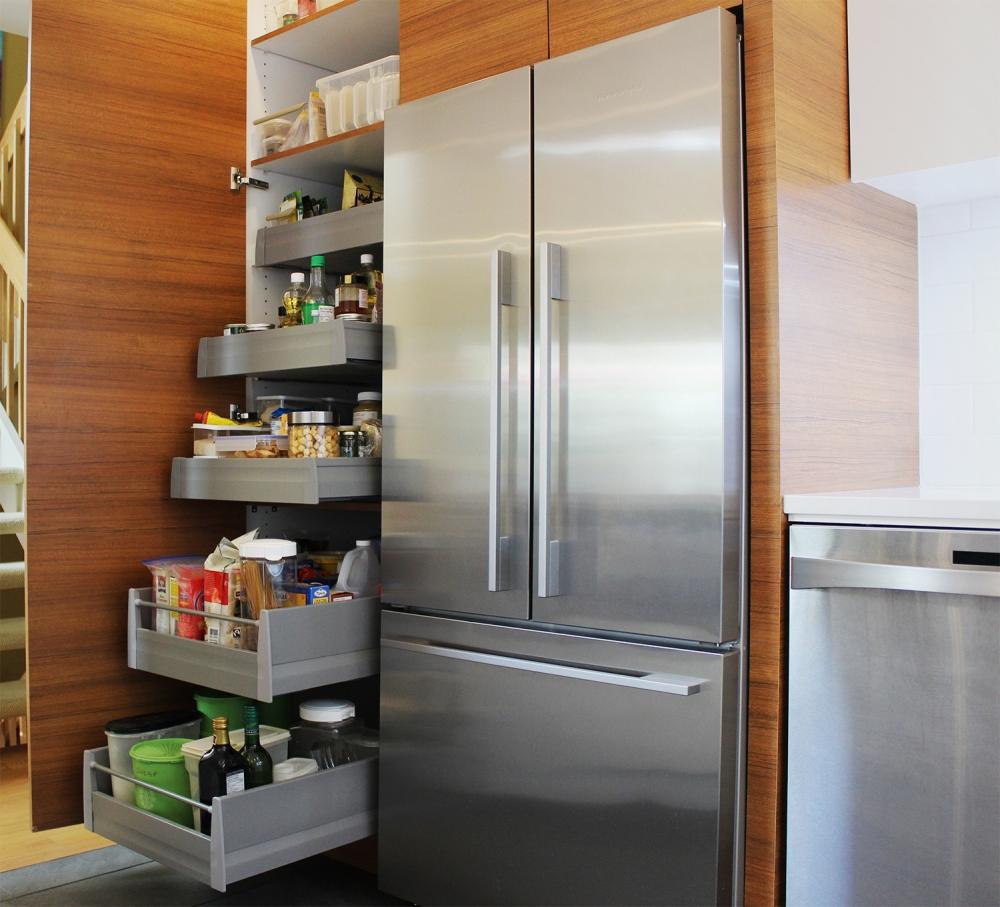 Image Tablettes ou tiroirs dans le garde manger?